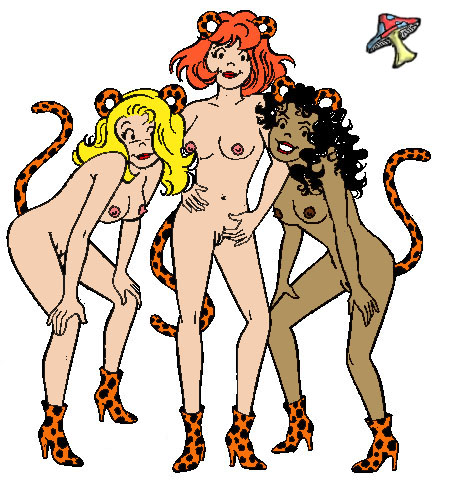 naked pussycats the josie and Gwen stacy spider verse hentai