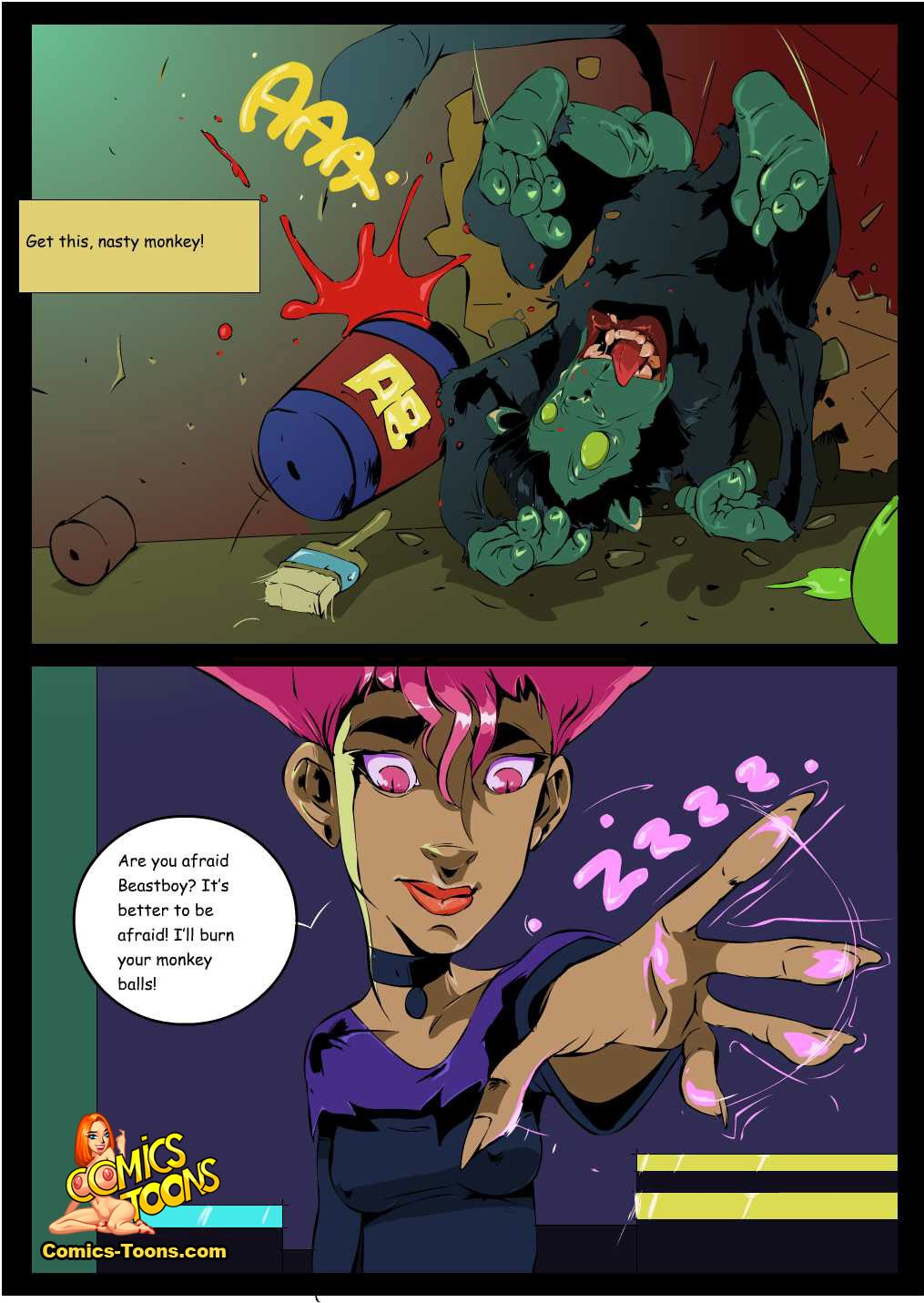 a starfire and beast share boy shower Fenoxo trials in tainted space