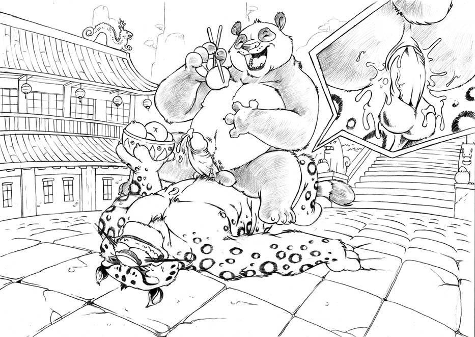 master tigress fu panda kung Moshimo kyonyuu kasshoku onna kyoushi ga ochitanara