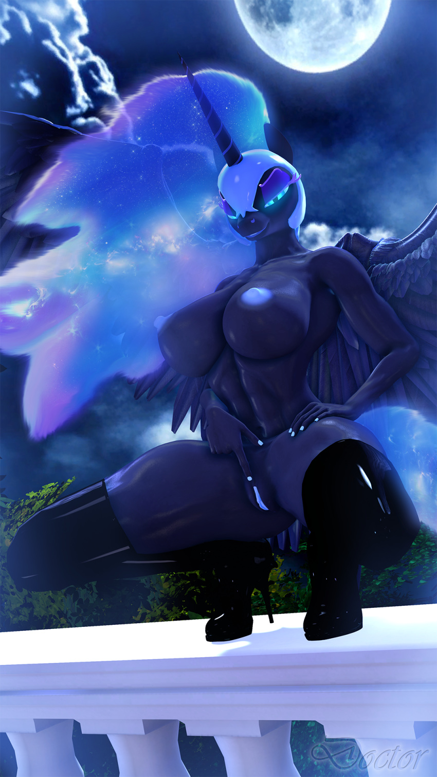 daybreaker moon vs nightmare mlp My hero academia momo boobs