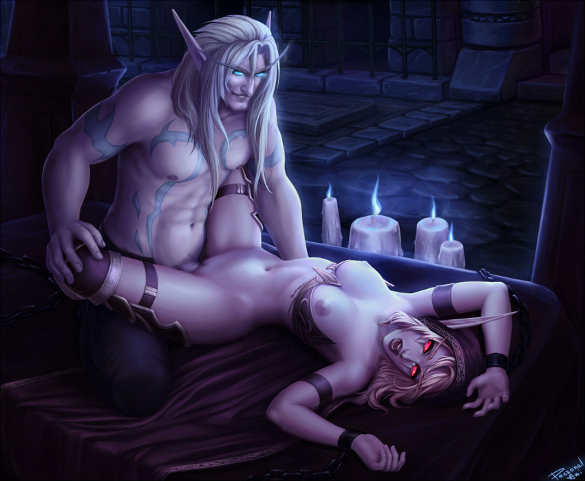 elf and night blood elf Yar har fiddle dee dee gif